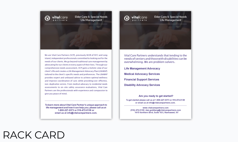 Gazelle Strategic Partners rack card design