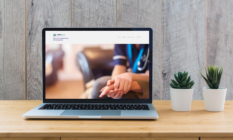 Vitalcare website design