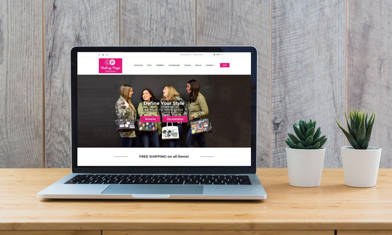 Chelsey Paige Designs website design