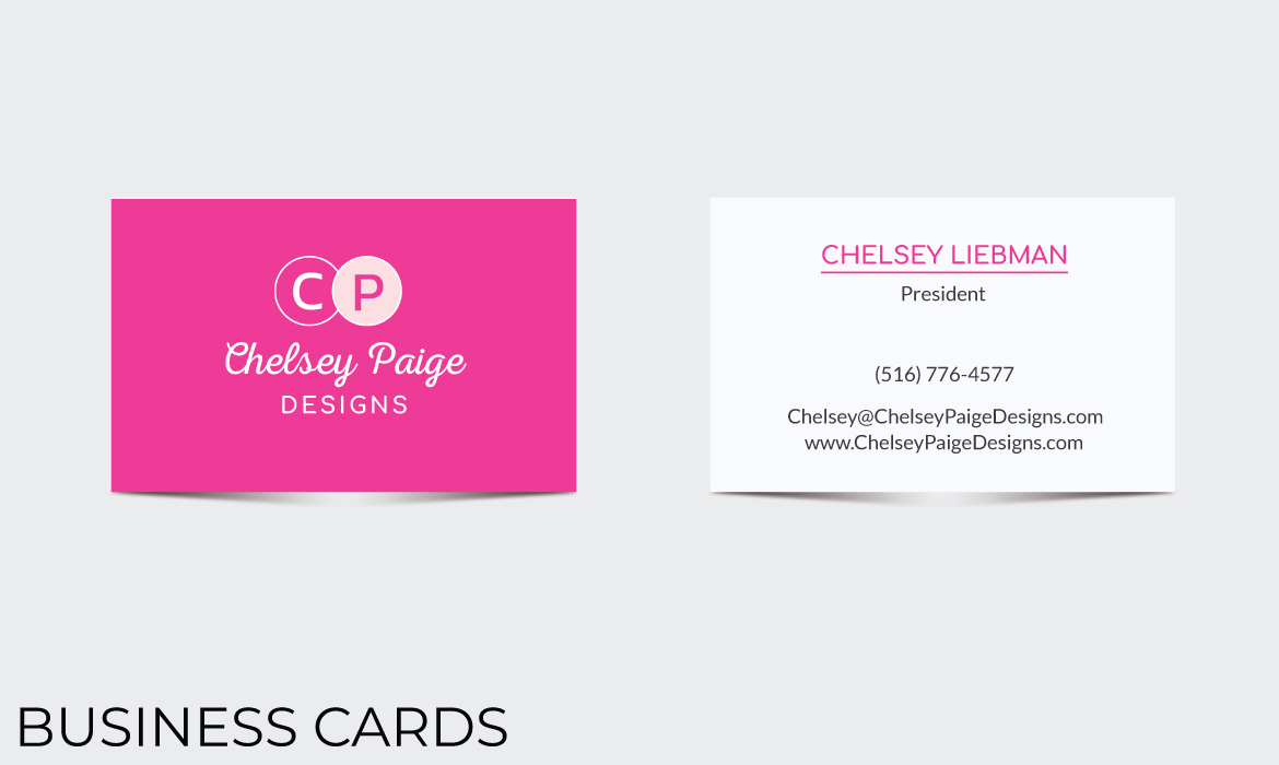 Chelsey Paige Designs business card