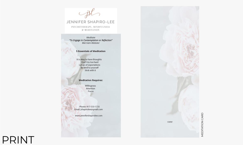 Gazelle Strategic Partners print meditation card design