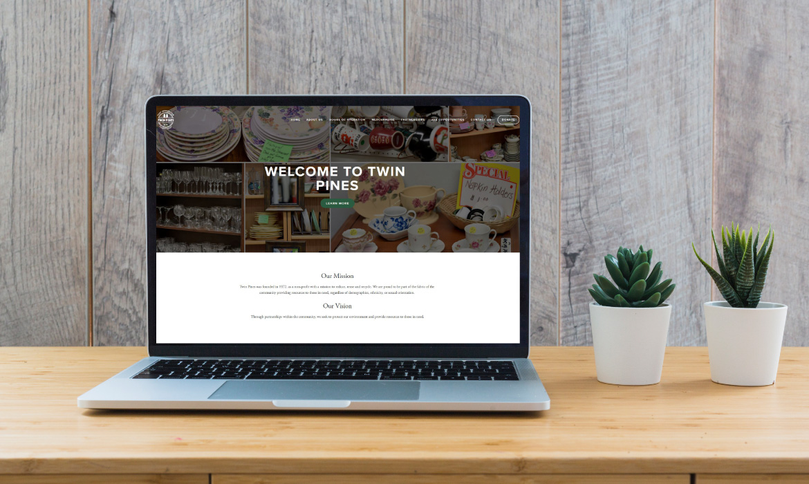 Gazelle Strategic Partners Twin Pines Web design